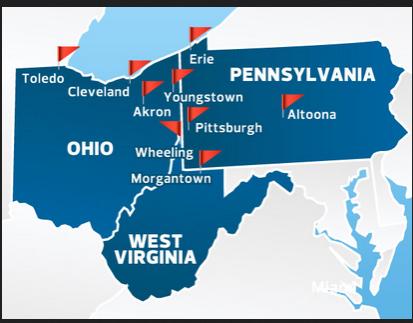 ohio pennsylvania